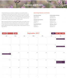 New Calendar Layout